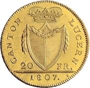 20 franken – avers