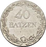 40 batzen – revers