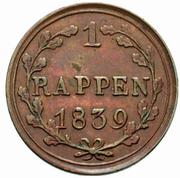 1 Rappen – revers
