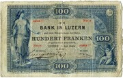 100 francs (Bank in Luzern) -  avers