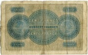 100 francs (Bank in Luzern) – revers