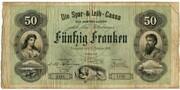 50 francs (Die Spar- und Leih-Cassa des Kantons Luzern) – avers