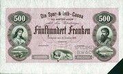 500 francs (Die Spar- und Leih-Cassa des Kantons Luzern) – avers