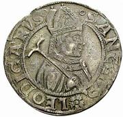 Dicken (LV in fields; ornate shield; Leodegar facing right) – revers