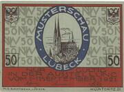50 pfennig (Lübeck) – avers