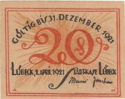 20 Pfennig (Lübeck) -  avers