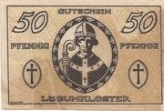 50 Pfennig (Lügumkloster) – revers