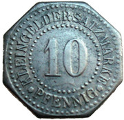 10 pfennig - Lüneburg – revers