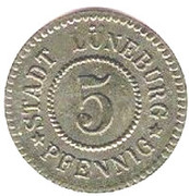 5 pfennig - Lüneburg – avers
