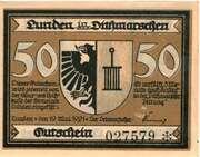 50 Pfennig (Lunden  in Dithmrschen) – avers