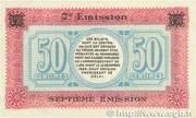 50 centimes - Chambre de Commerce de Lure [70] – revers