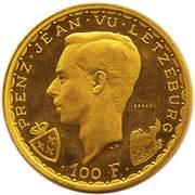 100 francs - Jean l'Aveugle (Essai) – avers