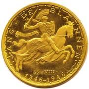 100 francs - Jean l'Aveugle (Essai) – revers