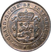 2½ centimes – avers