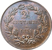 2½ centimes – revers