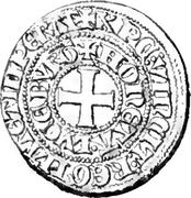 Tiers de Gros - Charles IV – revers