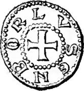 Denier - Henri V (le Blondel) – revers