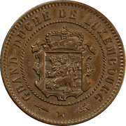 5 centimes - Guillaume III -  avers