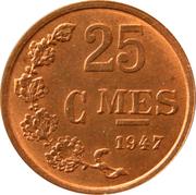 25 centimes - Bronze -  revers