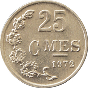 25 centimes - Charlotte (Aluminium) -  revers