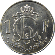 1 franc - Charlotte (petit module) -  revers