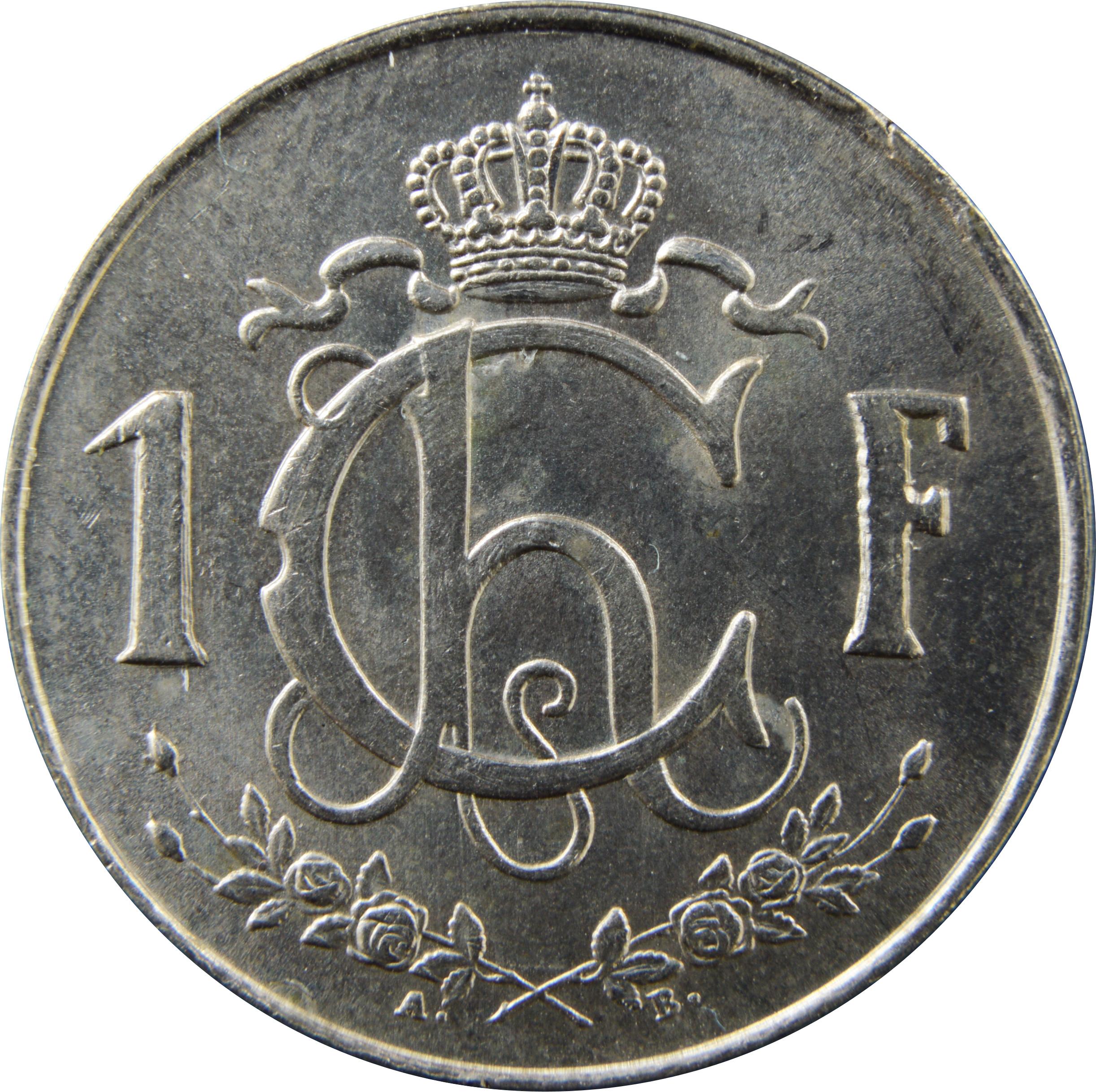 1 Franc Charlotte Petit Module Luxembourg Numista