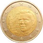 2 euros Palais grand-ducal – avers