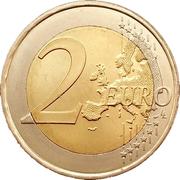 2 euros Palais grand-ducal – revers
