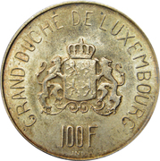 100 francs - Charlotte – revers