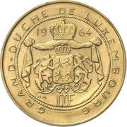 100 francs - Jean (Essai - Or) – revers