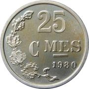25 centimes - Argent -  revers