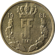 5 francs - Jean (IML) -  revers