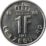 1 franc - Jean -  revers