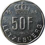 50 francs - Jean -  revers