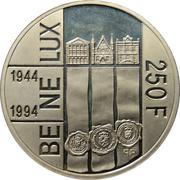 250 francs - Benelux – revers