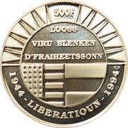 500 francs - Libération – revers