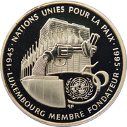 100 francs - Nations Unies – revers