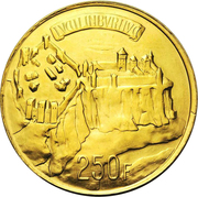 250 francs - Charlotte (Essai - Or) – revers