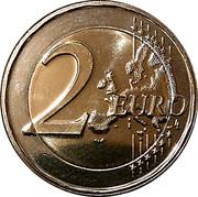 2 euros Guillaume III -  avers