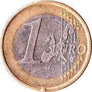 1 euro Henri (1ère carte) -  revers
