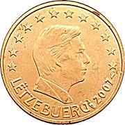 1 cent d'euro Henri – avers