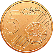 5 cents d'euro Henri -  revers