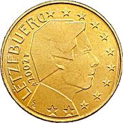 10 cents d'euro Henri (1ère carte) – avers