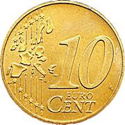 10 cents d'euro Henri (1ère carte) – revers