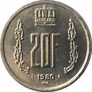 20 francs - Jean -  revers