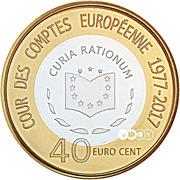 40 cents d'euro Cour des comptes européenne – revers