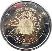 2 euros Introduction de l'euro (10 ans) – avers
