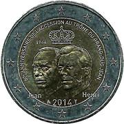 2 euros Grand-Duc Jean – avers