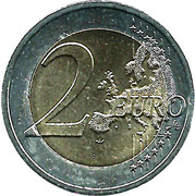 2 euros Grand-Duc Jean – revers