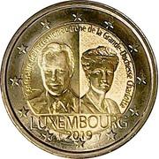 2 euros Grande-Duchesse Charlotte -  avers